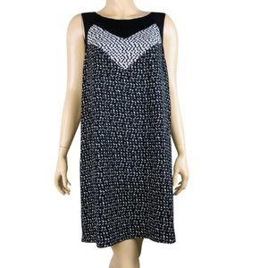Kensie szM blk & White abstract print shift dress